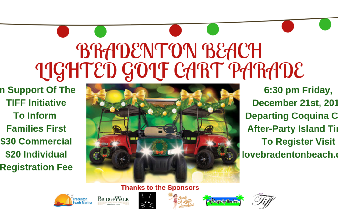 Bradenton Beach Lighted Golf Cart Parade